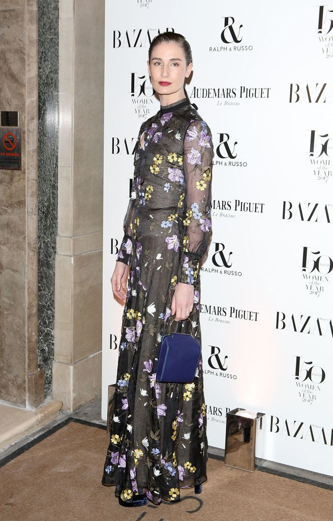 Erin O'Connor arrives at the Harper's Bazaar Woman Of The Year Awards.