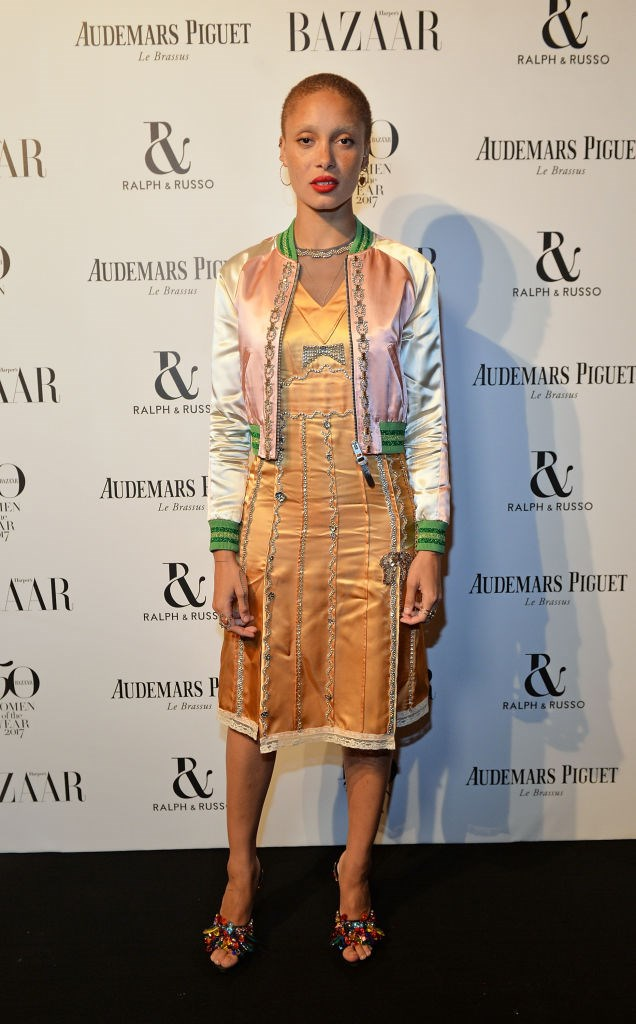 Adwoa Aboah attends Harper's Bazaar Women of the Year Awards.