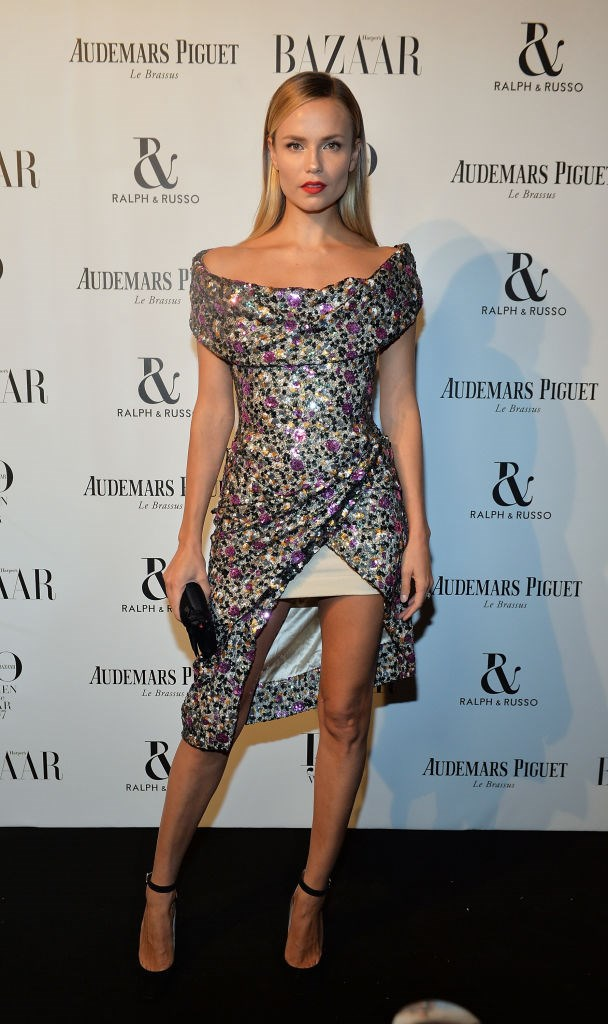 Natasha Poly attends Harper's Bazaar Women of the Year Awards.
