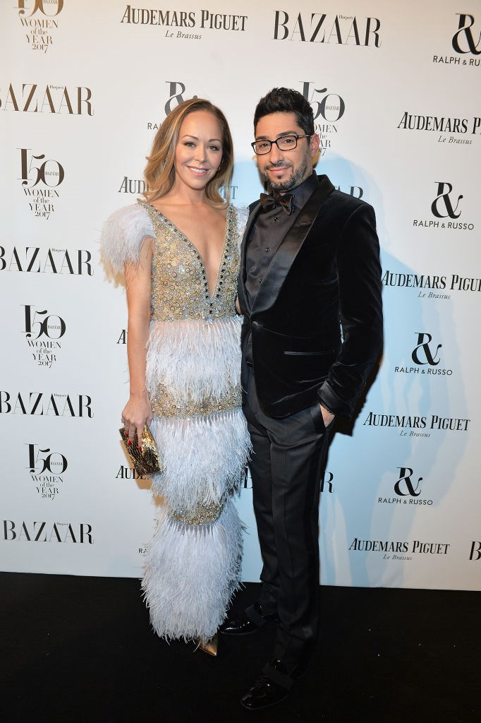 Tamara Ralph and Michael Russo attend Harper's Bazaar Women of the Year Awards.