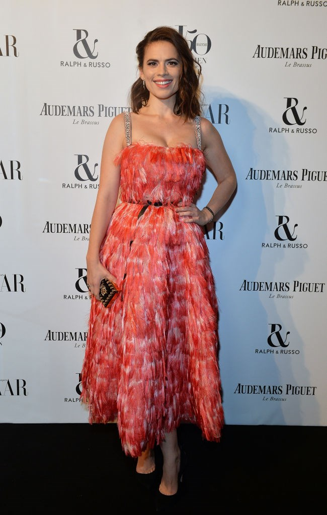 Hayley Atwell attending the Harper's Bazaar Women of the Year Awards.
