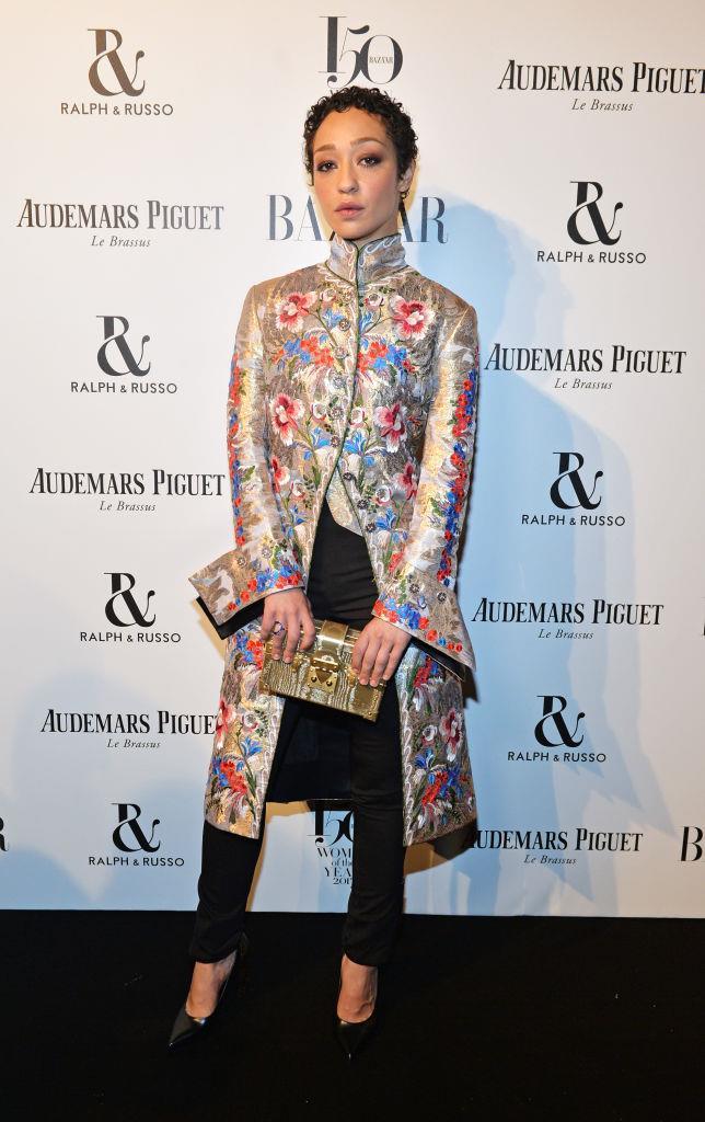 Ruth Negga attends Harper's Bazaar Women of the Year Awards.