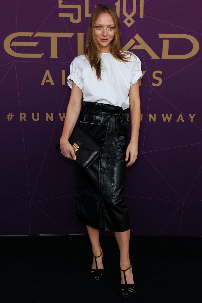 Louise Van de Vorst arrives at the 2017 Australian Fashion Laureate Awards.