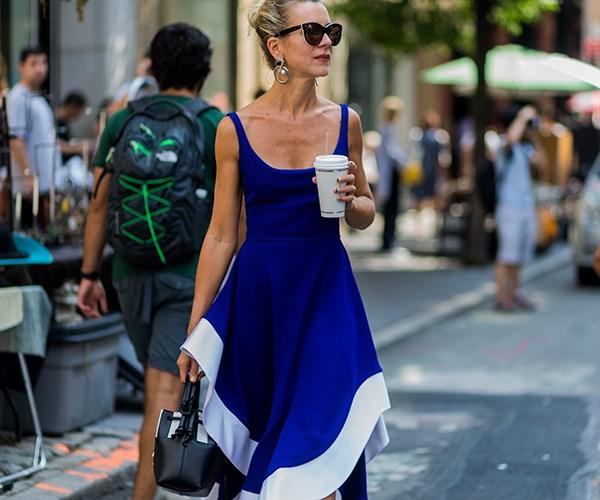 Natalie Joos blue dress