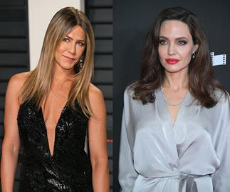 Jennifer Aniston Angelina Jolie Golden Globes