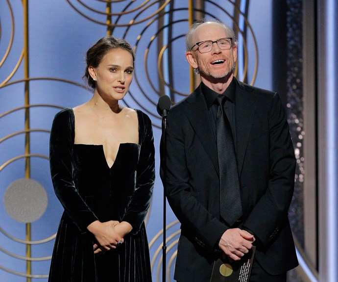 Natalie Portman 2018 Golden Globes Best Director Burn