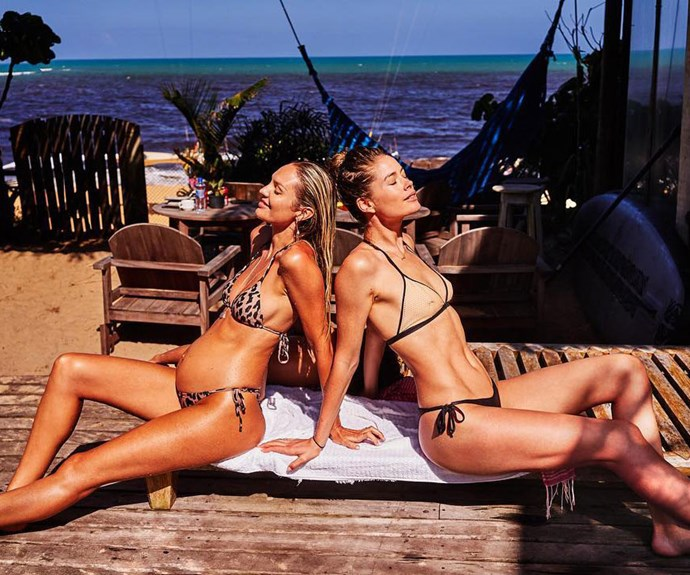 Candice Swanepoel and Doutzen Kroes Vacation Together in Brazil