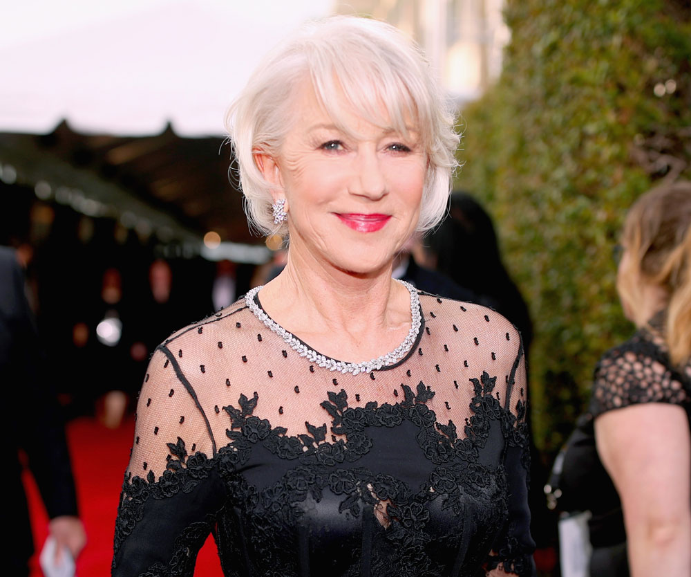 Helen Mirren is happy when Ellen tells her she's 72 not 73