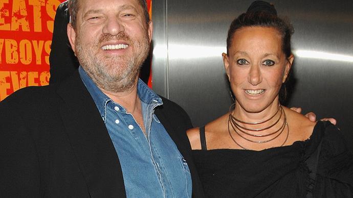 Harvey Weinstein and Donna Karan