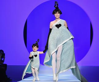 Coco Rocha and Her Little Girl Just Had The Sweetest Mother-Daughter Moment On The Runway In Paris