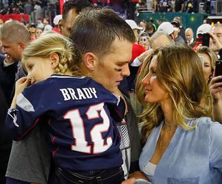 Tom Brady with Gisele Bundchen and daughter Vivian after 2017 Super Bowl