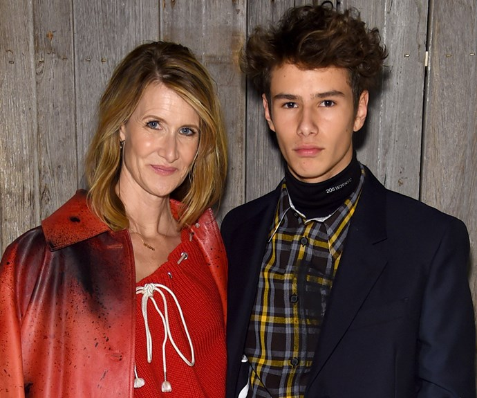 Laura Dern's Son Couldn't Get Parental Permission To Walk In The Calvin Klein Show At NYFW