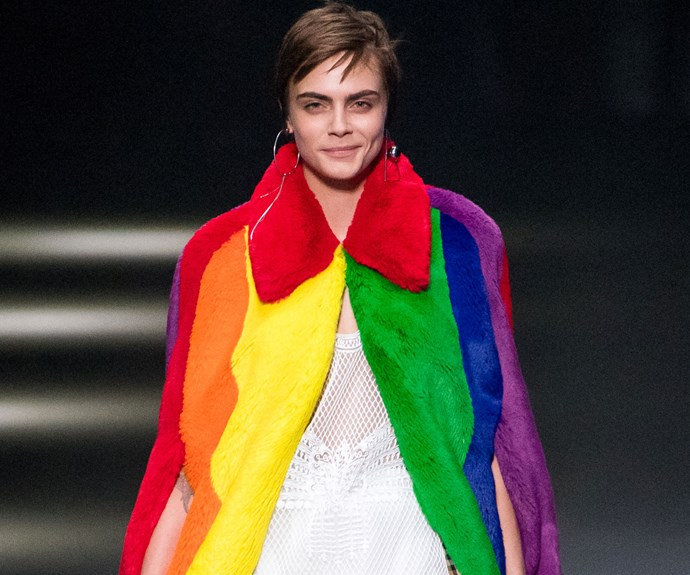 Cara Delevingne Made Her Runway Return For Burberry's Spring 2018 Show Dedicated To LGBTQ+ Youth