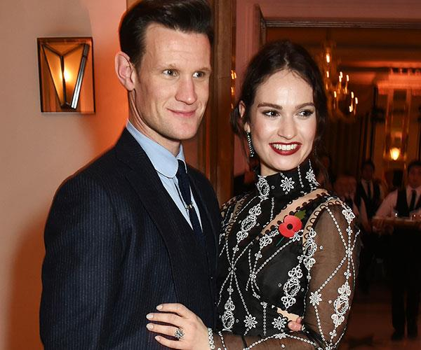 Matt Smith Lily James Engagement Ring