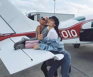 Elsa Hosk and Bella Hadid.