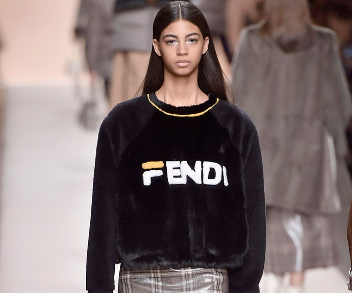 Fendi Reimagines A Familiar Logo On The Runway At Milan Fashion Week