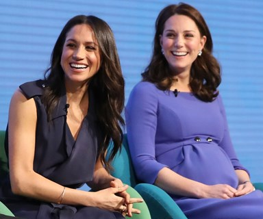 Meghan Markle and and Kate Middleton Couldn't Have Dressed More Differently for Their First Joint Event