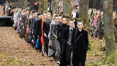 Karl Lagerfeld Created An Indoor Forest For Chanel's Latest Collection