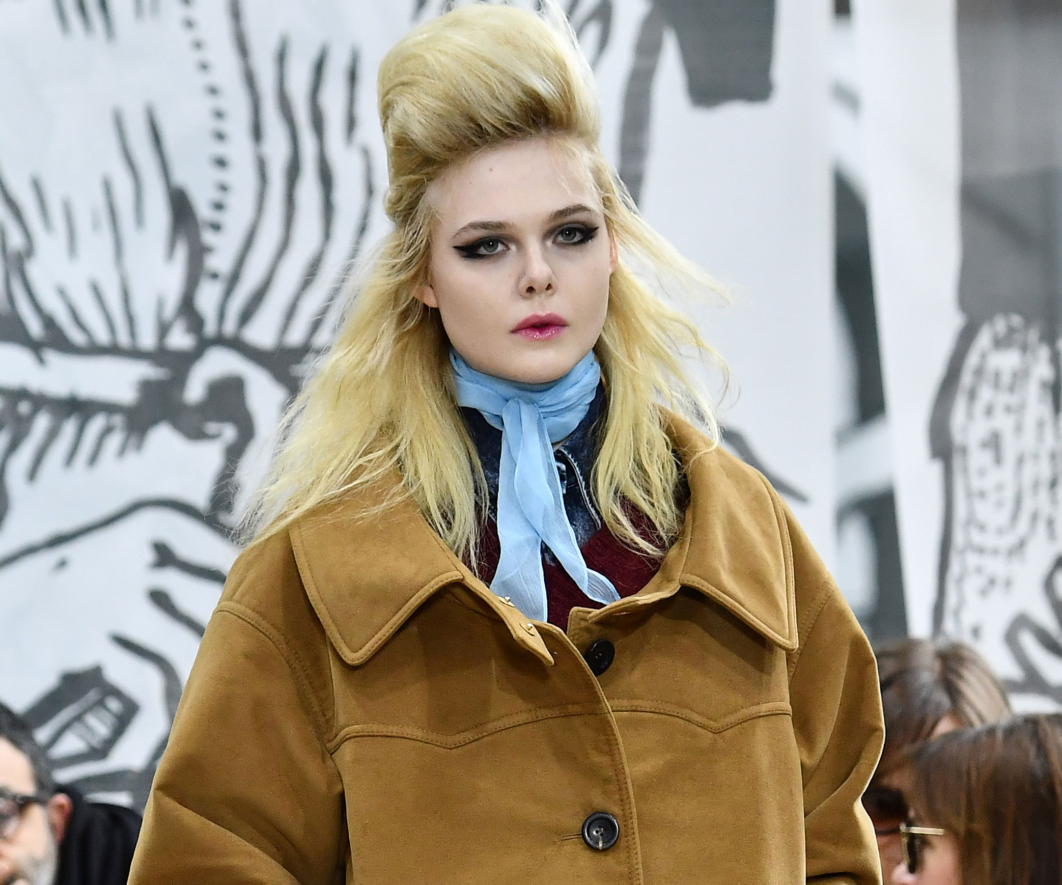 Elle Fanning made her runway debut at Miu Miu's autumn/winter show