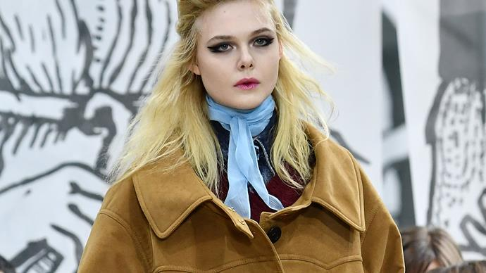 Elle Fanning Just Made Her Runway Debut Opening The Miu Miu Show