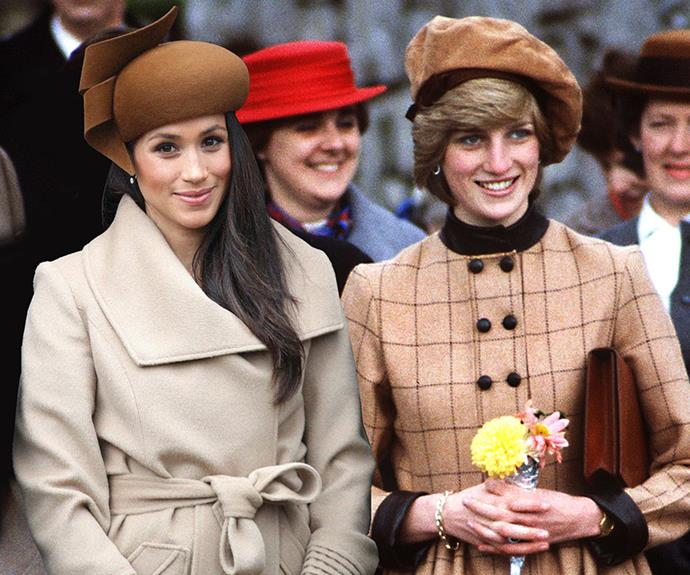 Meghan Markle and Princess Diana.