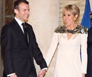 Brigitte Macron Shimmers In Custom Louis Vuitton Gown