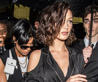 bella hadid curly hair perm