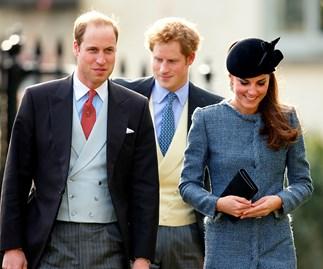 Royal wedding guests.