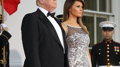 Melania Trump Wears Chanel Couture To State Dinner With France