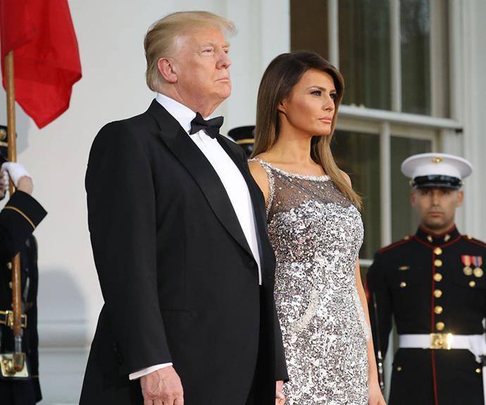 Melania Trump French state dinner.