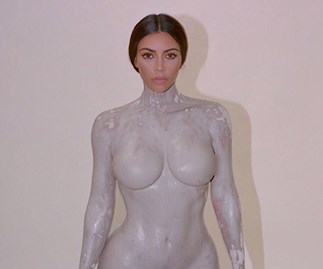 Kim Kardashian West Posts NSFW Photos Of Her KKW Body Mould