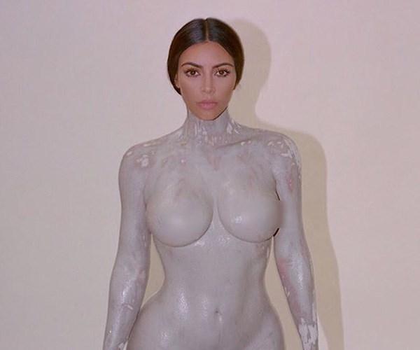 Kim Kardashian West Posts NSFW Photos Of Her KKW Body Mould