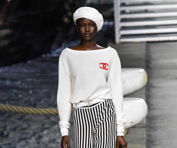 Adut Akech Chanel Cruise
