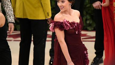 Scarlett Johansson Defends Wearing Marchesa To The Met Gala
