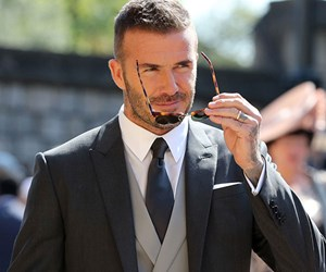 David Beckham Debuted A New Runway Collection At The Royal Wedding