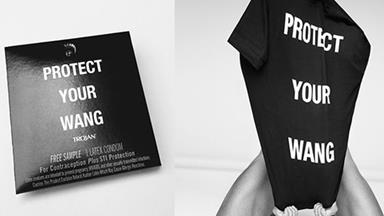 """Alexander Wang Celebrates Pride With """"Protect Your Wang"""" Condoms"""