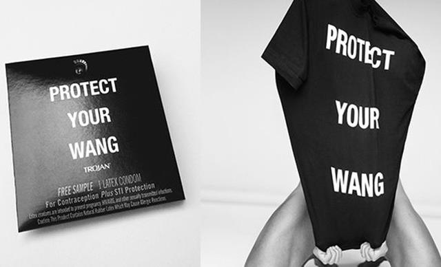 "Alexander Wang Celebrates Pride With ""Protect Your Wang"" Condoms"