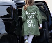 Melania Trump's Offensive Jacket Wasn't An Accident; Her Prior Outfit Choices Prove It