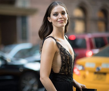 Model Emily DiDonato announced her marriage in the chicest way