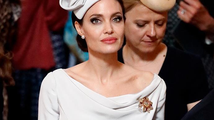 Angelina Jolie wearing Ralph & Russo.