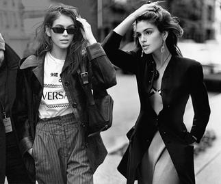 Kaia Gerber and Cindy Crawford.