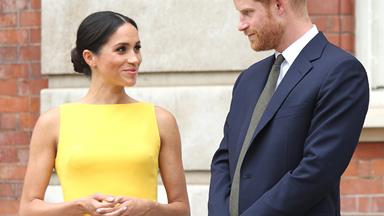 Meghan Markle Steps Out In Bold Brandon Maxwell Dress