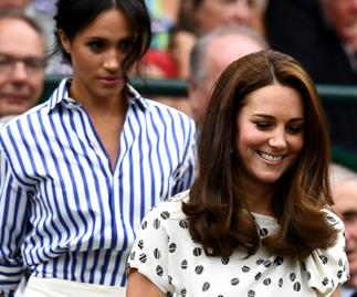 Kate Middleton and Meghan Markle at Wimbledon 2018.