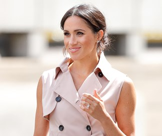 These Photos Of Meghan Markle In A Blush Pink Trench Dress Will Make You Want To Buy A Blush Pink Trench Dress