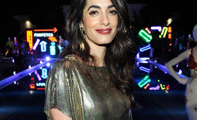 Amal Clooney Stripe Dress