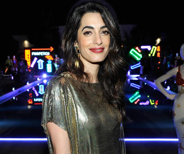 Amal Clooney Stripe Dress