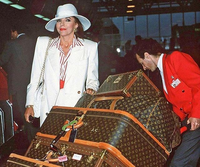 Joan Collins luggage