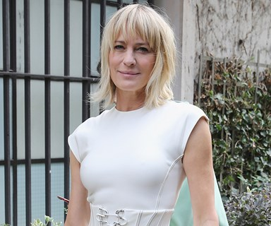 Robin Wright's Wedding Dress Is A Bohemian Bridal Dream