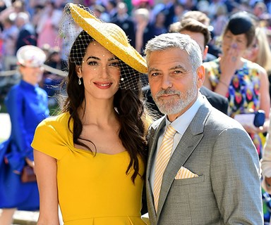Amal Clooney Just Recreated Her Royal Wedding Look For Date Night With George