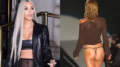 Kim Kardashian Just Wore A Gucci G String From 1997